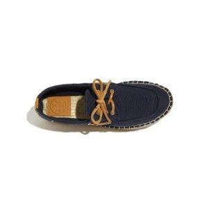 Tory Burch Blanton Espadrille Platform Boat Shoes